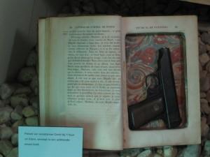Gun hildden in book